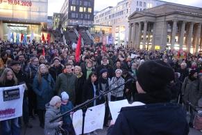 Kundgebung auf dem Schlossplatz