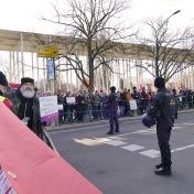 Protest an der Zufahrtsstraße