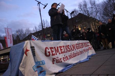 Rede auf der Kundgebung